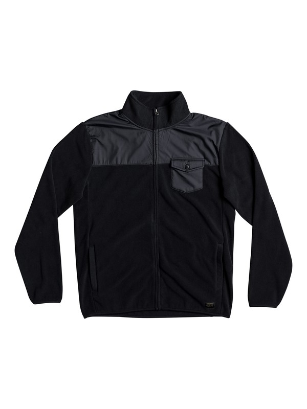 0 Men's Timberlost Zipped Polar Fleece Black EQYPF03029 Quiksilver