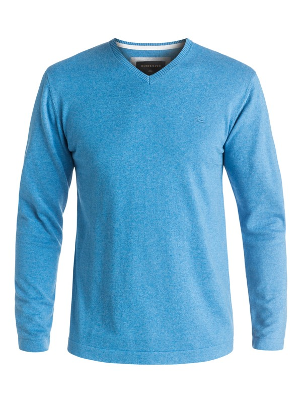 0 Everyday Kelvin - Sweat col v Bleu EQYSW03141 Quiksilver