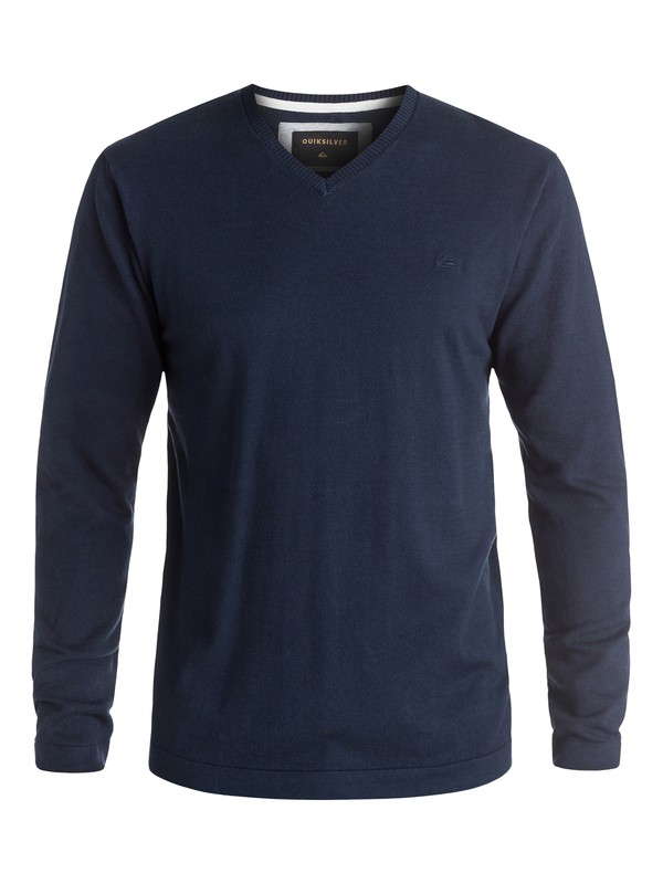 0 Everyday Kelvin V-Neck Sweatshirt Blue EQYSW03141 Quiksilver