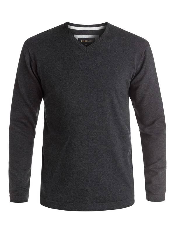 0 Everyday Kelvin V-Neck Sweatshirt Black EQYSW03141 Quiksilver