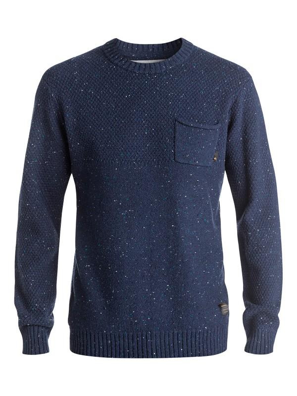 0 Newchester - Pull avec poche Bleu EQYSW03164 Quiksilver