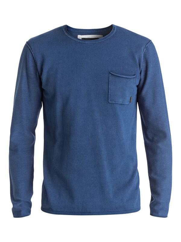 0 Astley - Pull avec poche Bleu EQYSW03165 Quiksilver