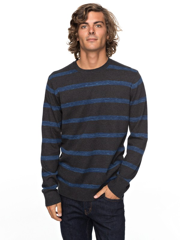 0 Slowcan - Pull col rond Noir EQYSW03205 Quiksilver