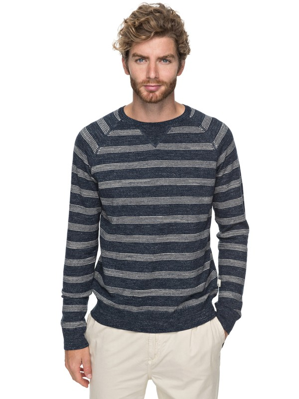 0 The Concave - Pull col rond Bleu EQYSW03214 Quiksilver