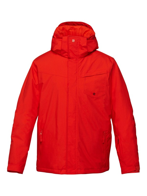 0 Mission Solid 10K Jacket Red EQYTJ00117 Quiksilver