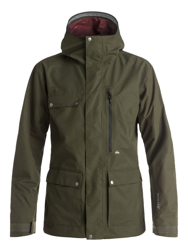 0 Southwood 2L GORE-TEX® Snow Jacket Brown EQYTJ03053 Quiksilver