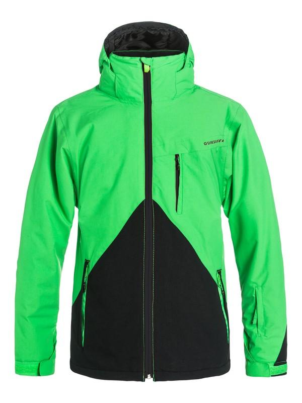0 Сноубордическая куртка Mission Colorblock Зеленый EQYTJ03067 Quiksilver