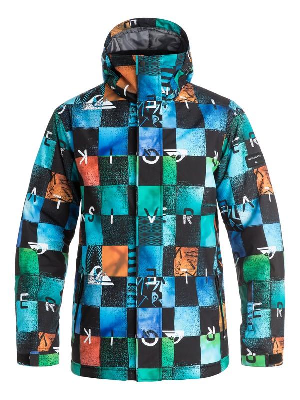 0 Сноубордическая куртка Mission Printed Синий EQYTJ03069 Quiksilver