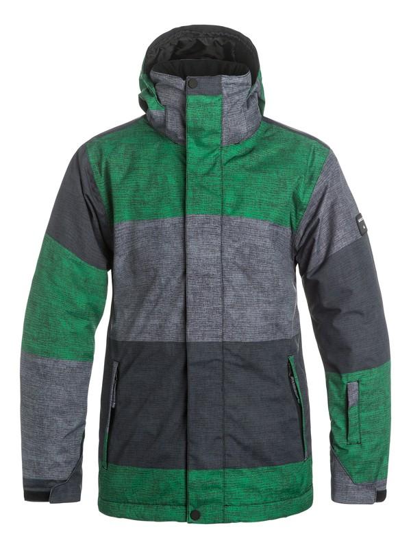 0 Сноубордическая куртка Mission Printed Зеленый EQYTJ03069 Quiksilver