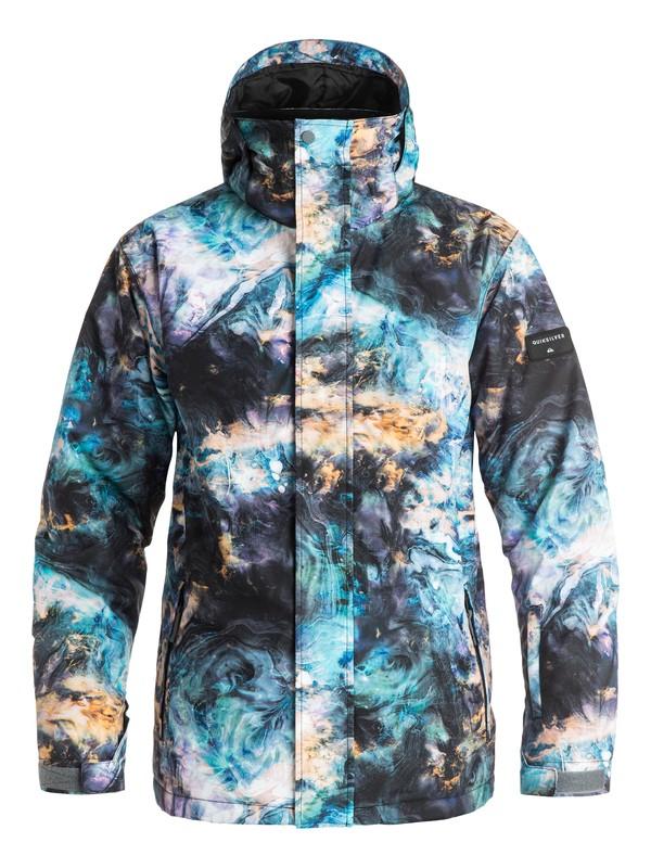 0 Сноубордическая куртка Mission Printed Черный EQYTJ03069 Quiksilver