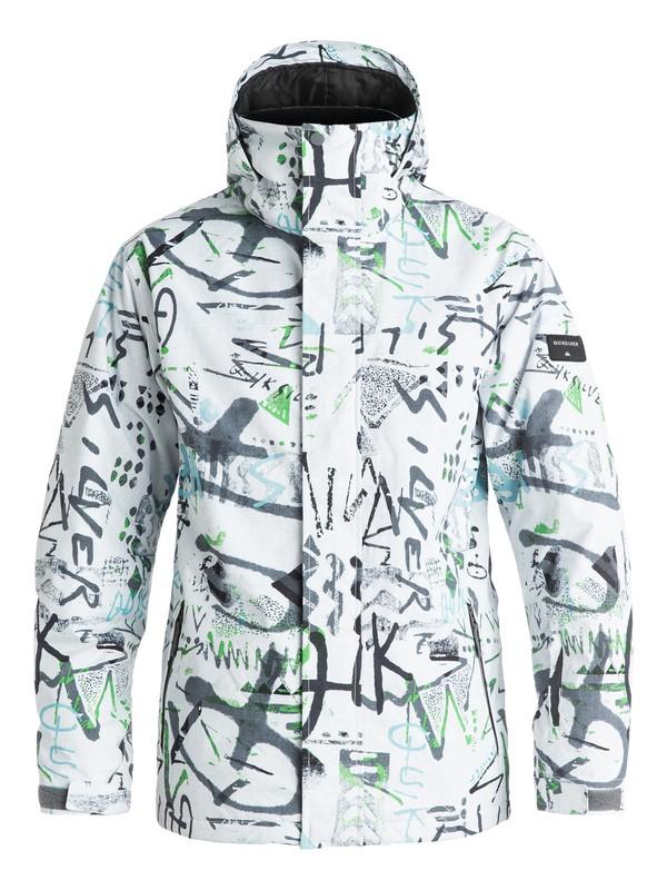 0 Сноубордическая куртка Mission Printed Белый EQYTJ03069 Quiksilver
