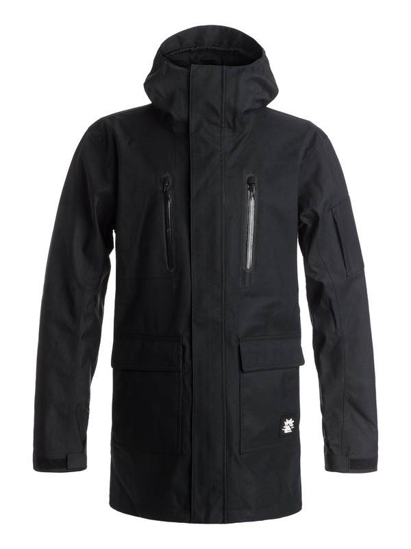 0 Julien David X Quiksilver Dark And Stormy Snow Jacket  EQYTJ03074 Quiksilver