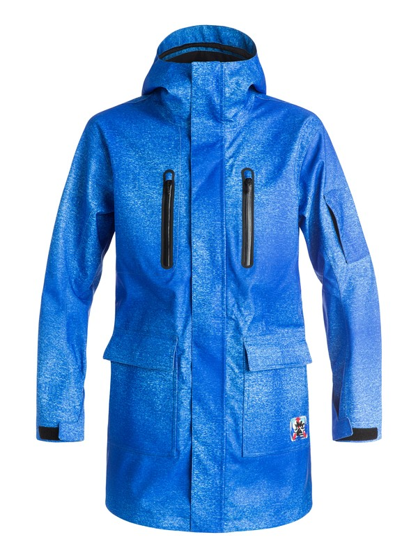 0 Quiksilver X Julien David - Longue veste de snow Bleu EQYTJ03092 Quiksilver