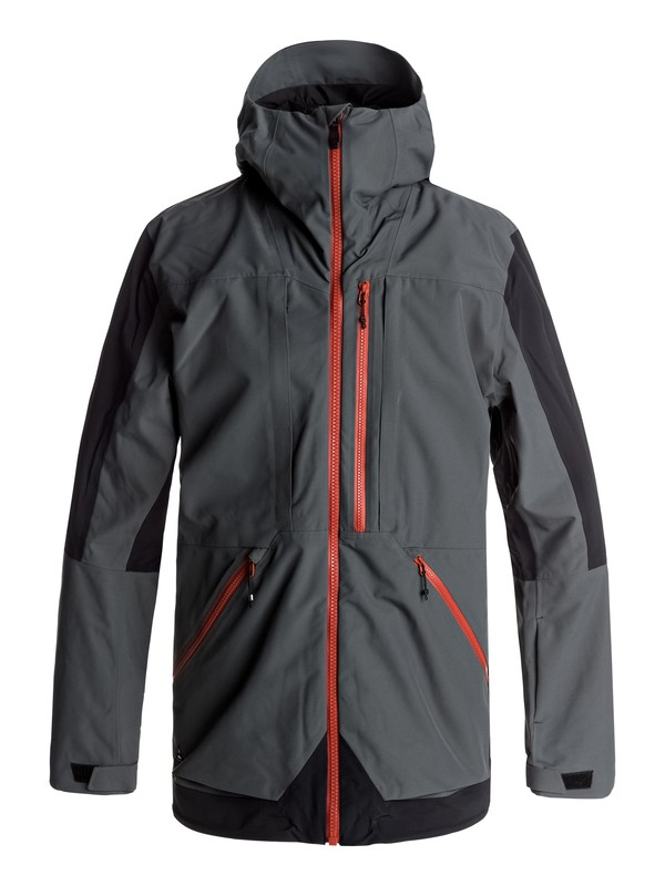 0 Travis Rice Stretch Snow Jacket Black EQYTJ03114 Quiksilver