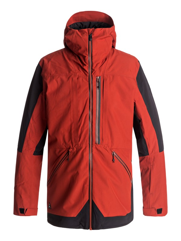 0 Travis Rice Stretch Snow Jacket Red EQYTJ03114 Quiksilver