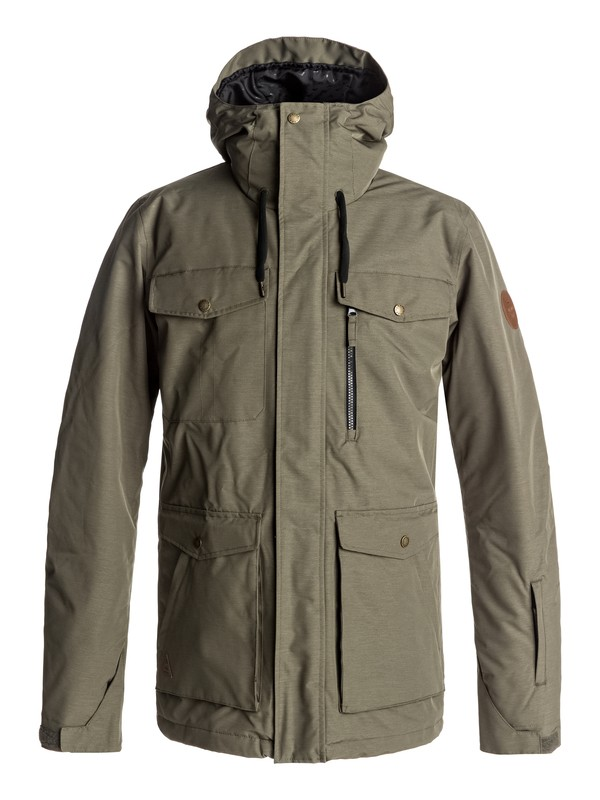 0 Raft Snow Jacket Brown EQYTJ03125 Quiksilver