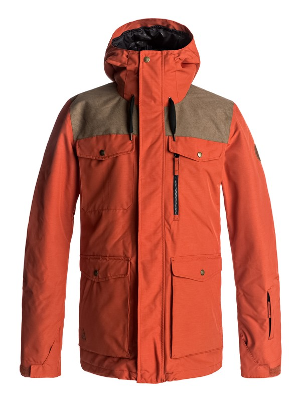 0 Raft Snow Jacket Red EQYTJ03125 Quiksilver
