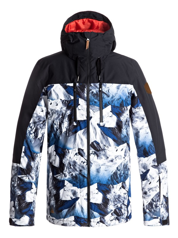 0 Mission Block Snow Jacket Blue EQYTJ03126 Quiksilver