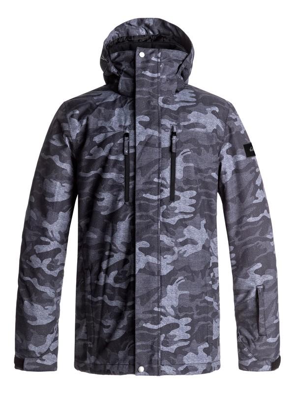 0 Mission Printed Snow Jacket Black EQYTJ03128 Quiksilver
