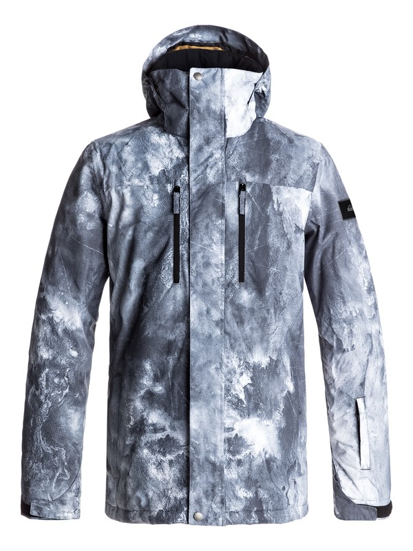 0 Mission Printed Snow Jacket White EQYTJ03128 Quiksilver
