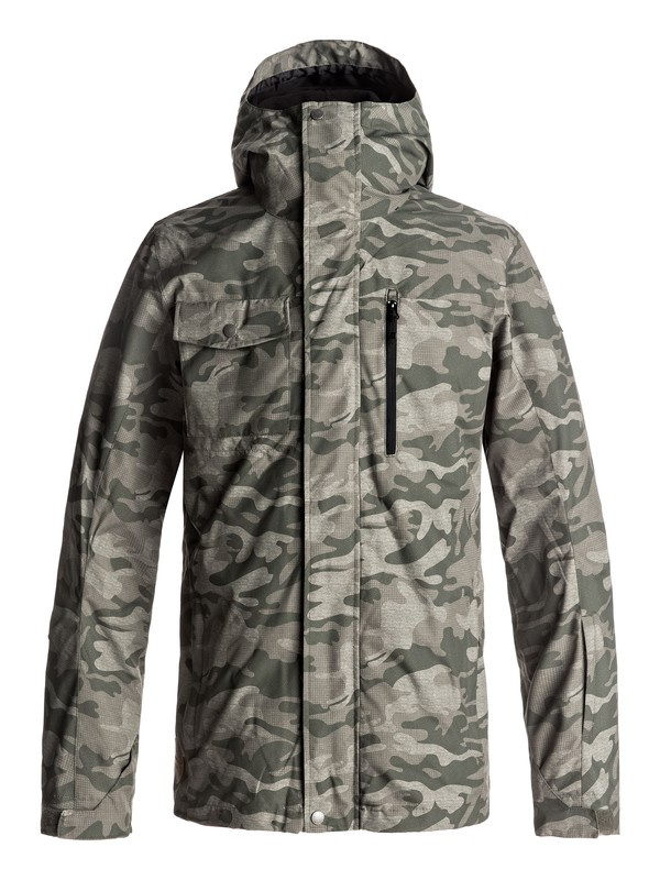 0 Mission 3-in-1 Snow Jacket Brown EQYTJ03148 Quiksilver