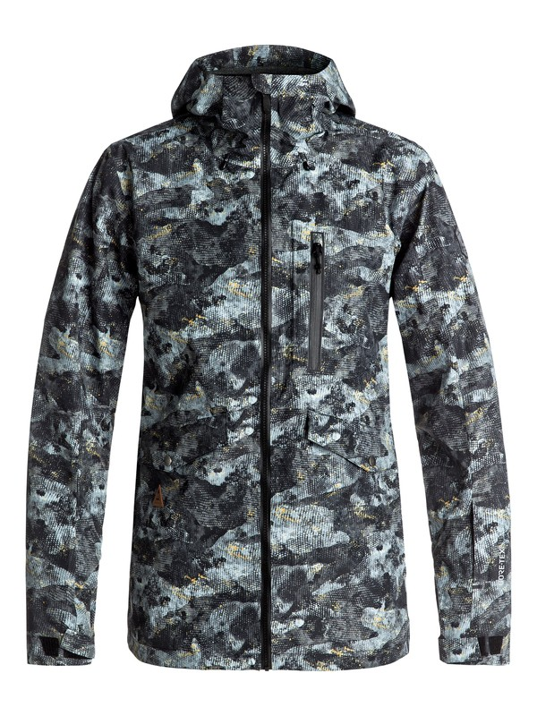 0 Black Alder Printed 2L GORE-TEX® - Snow Jacket Brown EQYTJ03151 Quiksilver