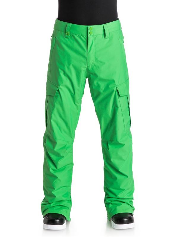 0 Сноубордические штаны Porter Ins Зеленый EQYTP03030 Quiksilver
