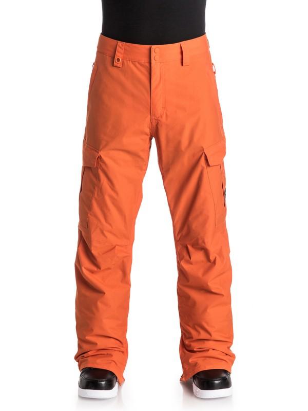 0 Porter Ins - Pantalon de snow Orange EQYTP03030 Quiksilver