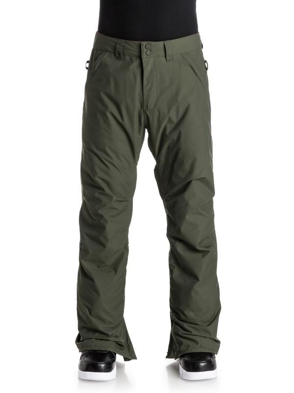0 Estate - Pantalon de snow Marron EQYTP03033 Quiksilver