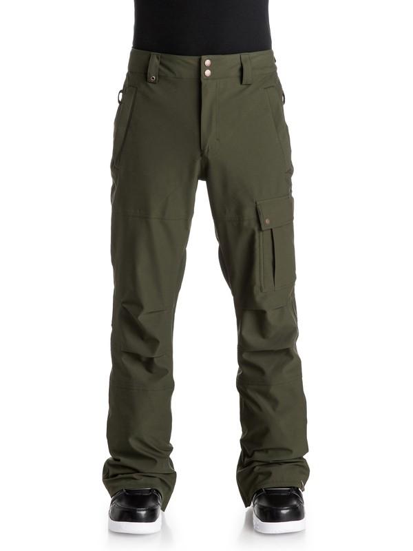 0 Reason - Pantalon de snow Marron EQYTP03036 Quiksilver