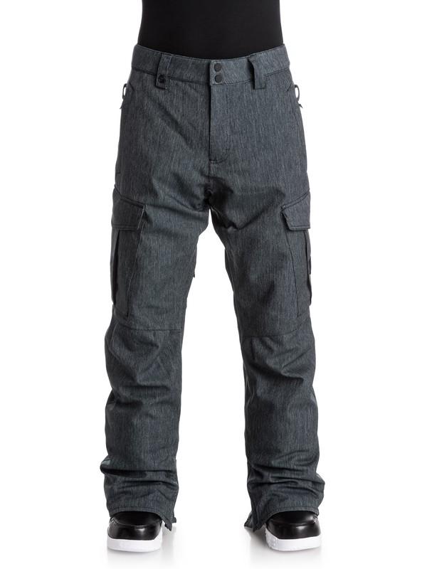 0 Porter Denim - Pantalon de snow Noir EQYTP03041 Quiksilver