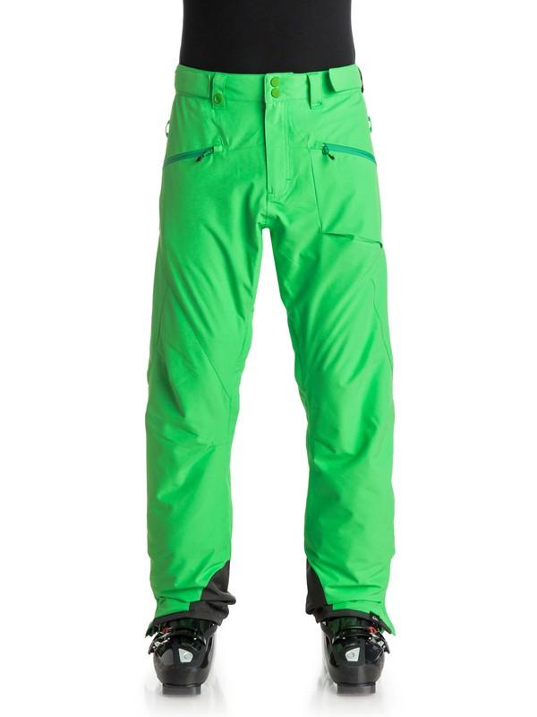 0 Boundry Plus - Pantalon de snow Vert EQYTP03045 Quiksilver