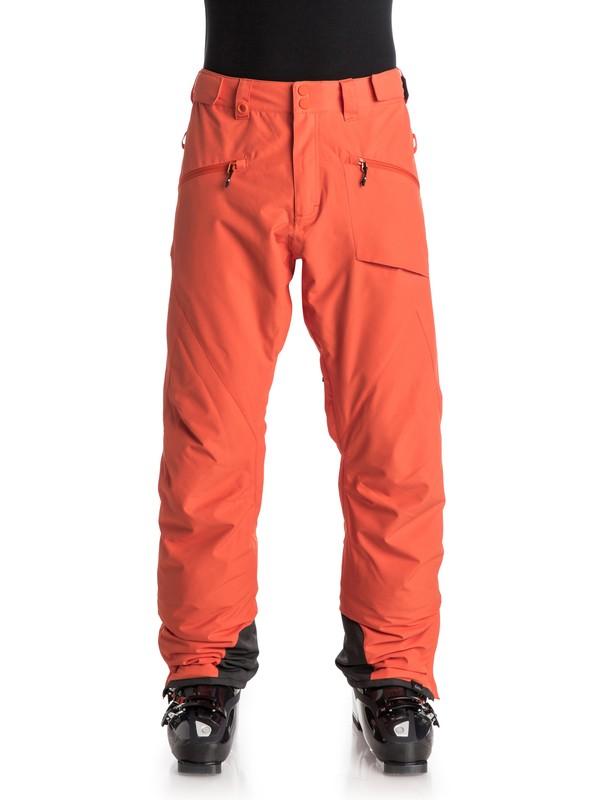 0 Сноубордические штаны Boundry Plus Оранжевый EQYTP03045 Quiksilver