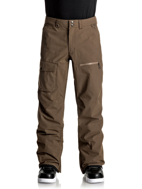 0 Utility Snow Pants Brown EQYTP03059 Quiksilver