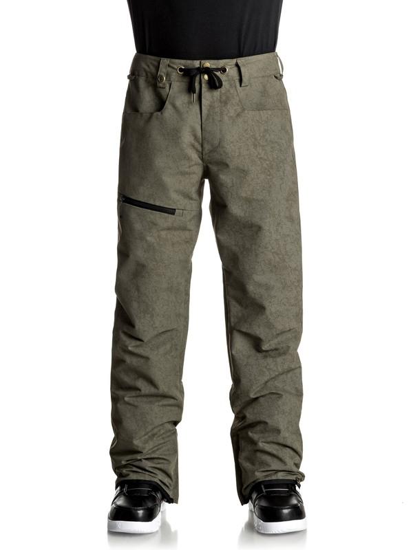 0 Forest Oak - Pantaloni da snowboard Brown EQYTP03067 Quiksilver