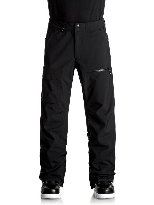 0 Utility Stretch - Pantaloni da snowboard Black EQYTP03076 Quiksilver