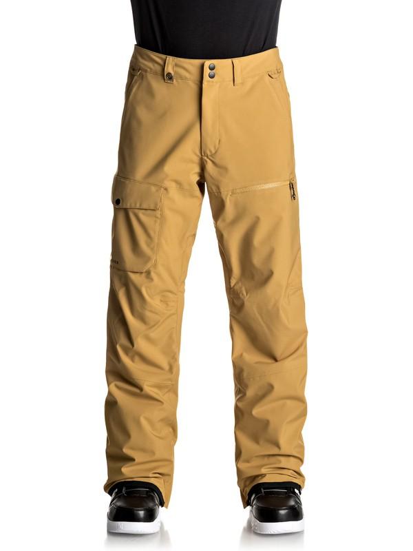 0 Utility Stretch - Pantalon de snow Jaune EQYTP03076 Quiksilver
