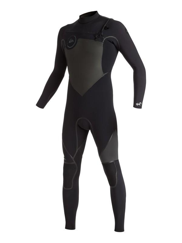 0 Syncro 4/3mm - Combinaison de surf intégrale zip poitrine Noir EQYW103021 Quiksilver