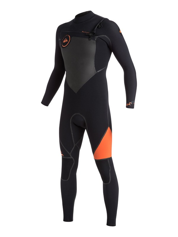 0 Syncro Plus 3/2mm Chest Zip Full Wetsuit Orange EQYW103023 Quiksilver