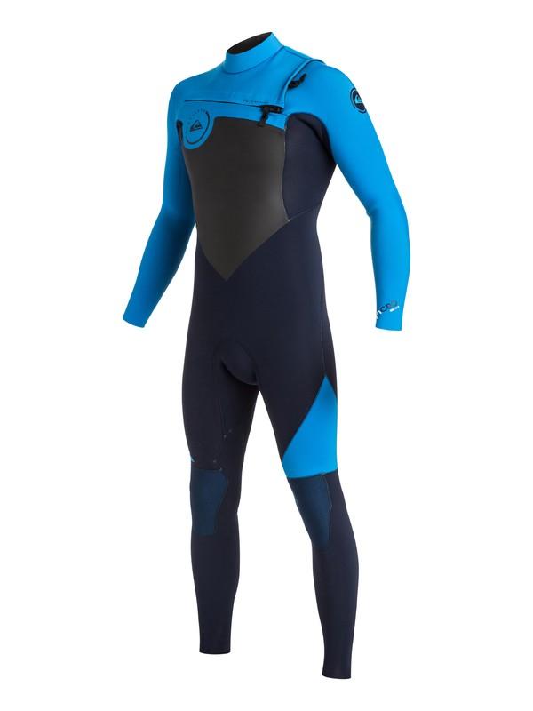 0 Syncro 4/3mm - Combinaison de surf intégrale zip poitrine Bleu EQYW103026 Quiksilver