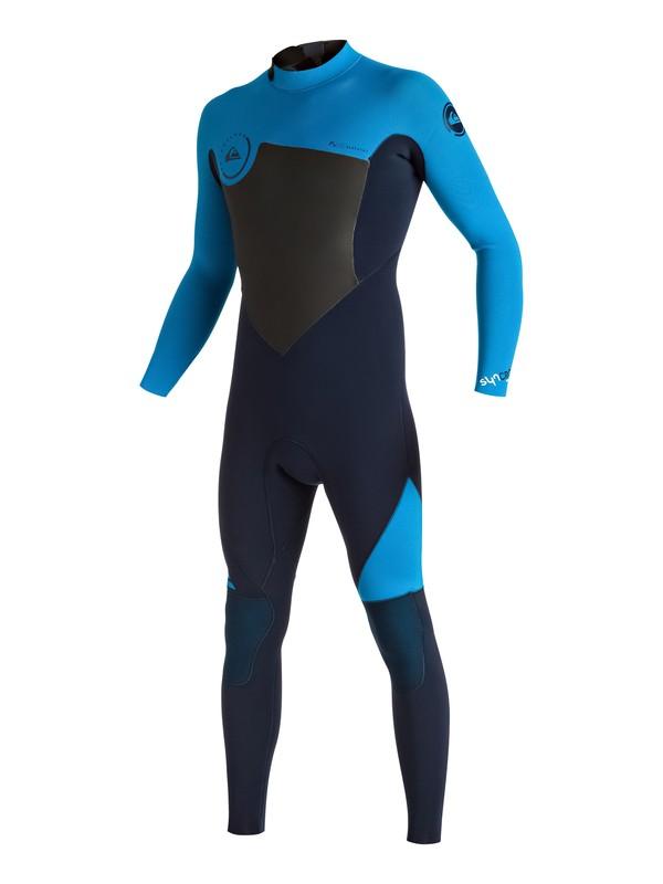 0 Syncro 4/3mm - Combinaison de surf intégrale zip dans le dos Bleu EQYW103027 Quiksilver