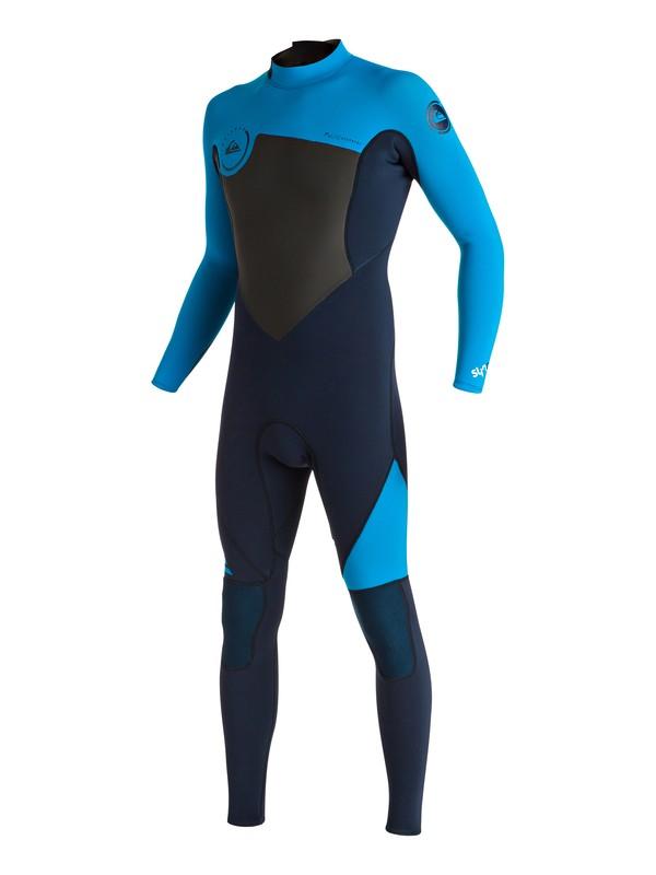0 Syncro 3/2mm - Combinaison de surf intégrale zip dans le dos Bleu EQYW103030 Quiksilver