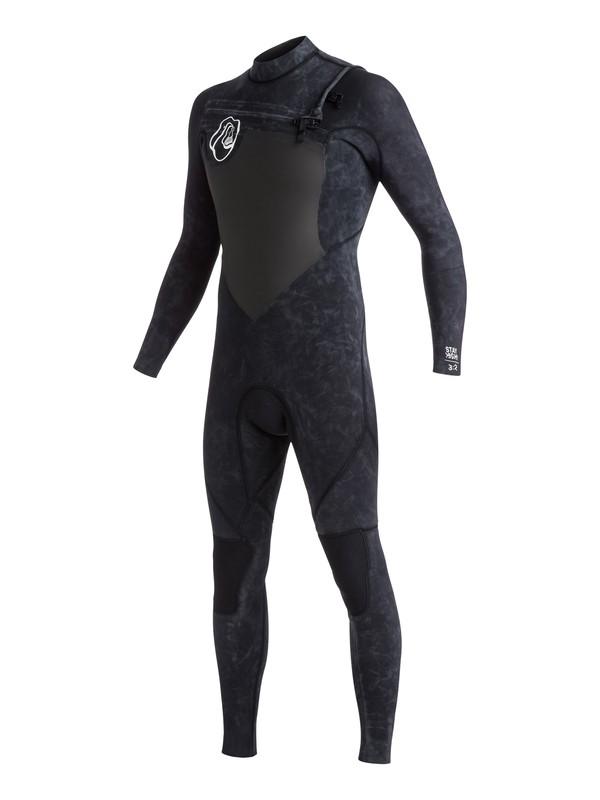 0 High Dye 3/2mm - Combinaison de surf intégrale zip poitrine Noir EQYW103031 Quiksilver