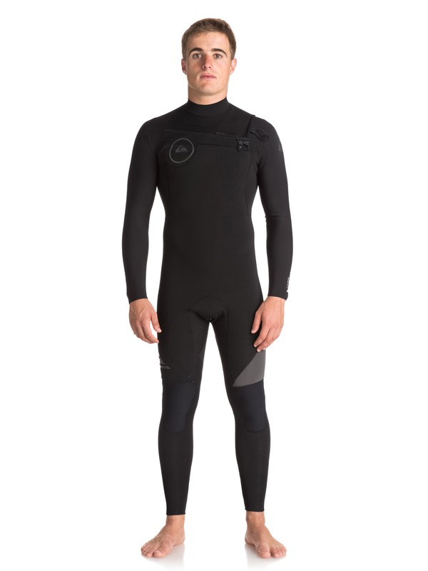 0 4/3mm Syncro Series Chest Zip GBS Wetsuit Black EQYW103042 Quiksilver