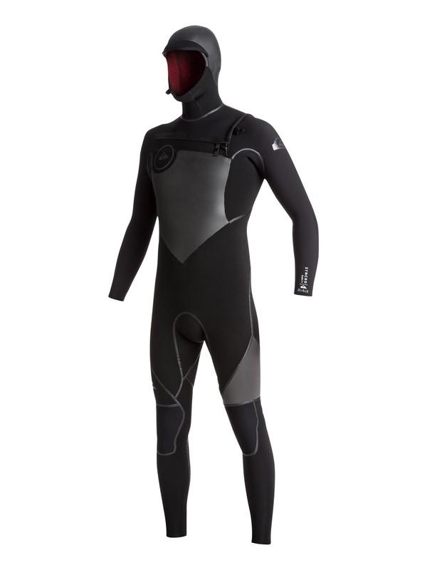 0 5/4/3 Syncro Chest Zip - Combinaison de surf intégrale à capuche Noir EQYW203004 Quiksilver