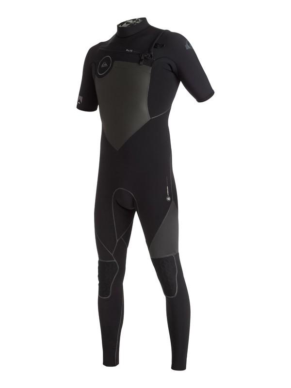 0 Highline Performance 2/2mm - Combinaison de surf intégrale à zip poitrine Noir EQYW303002 Quiksilver