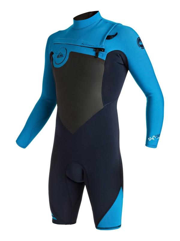 0 Syncro 2/2mm - Springsuit manches longues zip poitrine Bleu EQYW403002 Quiksilver
