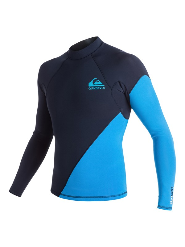 0 Syncro New Wave 1mm - Langärmeliges Neo-Top Blau EQYW803004 Quiksilver