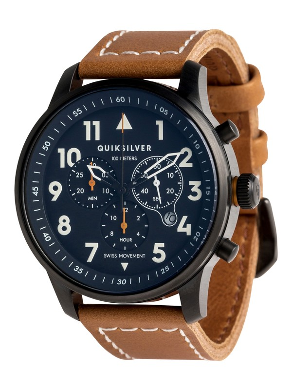 0 Seafire Leather - Montre analogique Marron EQYWA03015 Quiksilver