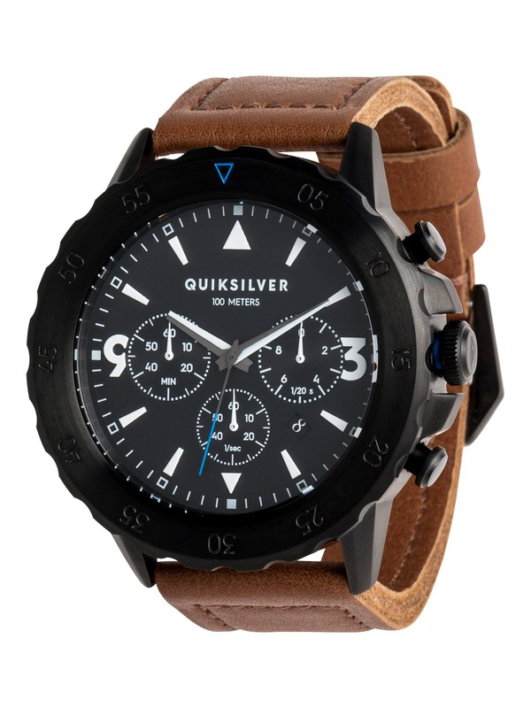 0 B-52 Chrono Leather - Montre analogique Noir EQYWA03020 Quiksilver